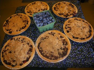 Hugli's homemade blueberry crumble pies