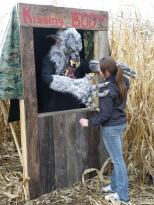 The Kissing BOOth in the Creepy Corn Maze